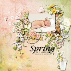 Layout using {Hello Spring} Digital Scrapbook Kit by Eudora Designs available at PBP https://www.pickleberrypop.com/shop/manufacturers.php?  manufacturerid=173