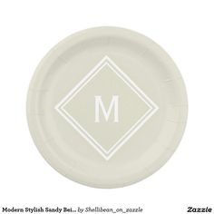 Modern Lime Green and Black Stripes Monogram Paper Plate | All Aboard For Zazzle? | Pinterest  sc 1 st  Pinterest & Modern Lime Green and Black Stripes Monogram Paper Plate | All ...