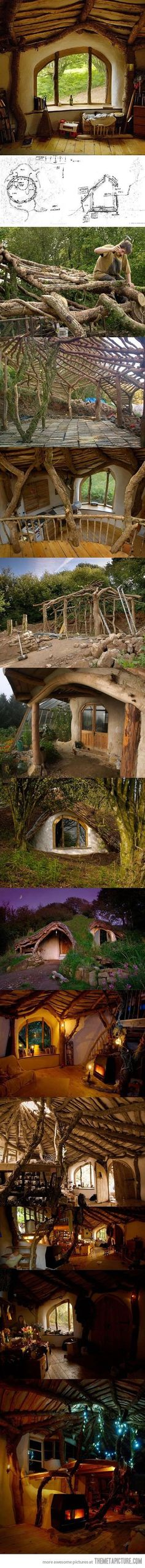 """How to build a Hobbit house :) would make an excellent """"backyard getaway"""" type deal! Have family sleepovers in there when it snows, for holidays, or just for fun!"""
