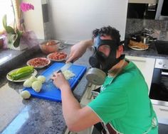 this is sooo my husband while cutting onions hahaha!