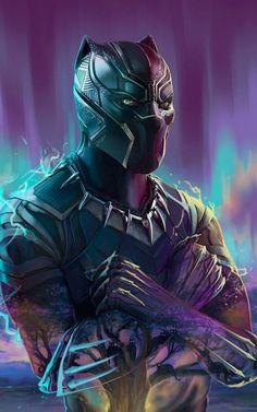 Black Panther Marvel, Black Panther Images, Panther Pictures, Black Panther Art, Black Panthers, Marvel Art, Marvel Comics, Marvel Avengers, Black Panther Movie Poster