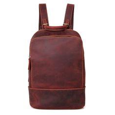 """Selena"" Handmade Leather Backpack Russet"