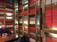 Wall at Nandos jam factory.  Could work for feature wall in kitchen