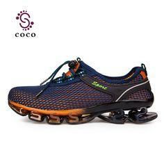 the latest 9157e 7a843 Super Cool breathable running shoes men sneakers bounce summer outdoor  sport shoes Professional Training shoes plus size-in Running Shoes from  Sports ...
