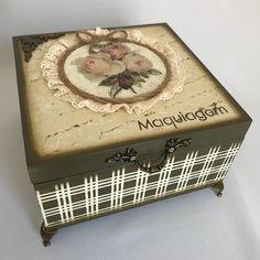 Wooden Boxes, Ideas Para, Decorative Boxes, Scrap, Homemade, Vintage, Diy, Home Decor, Metal