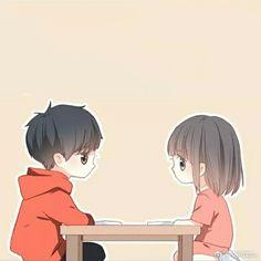 Cute Chibi Couple, Cute Couple Cartoon, Cute Couple Art, Cute Love Cartoons, Anime Love Couple, Anime Couples Manga, Cute Anime Couples, Anime Chibi, Manga Anime