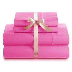 800Tc Bed Sheet Set 100% Egyptian Cotton Pink Solid In All Size -Ne10