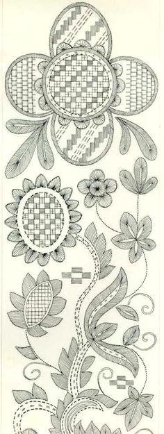 Jacobean embroidery pattern
