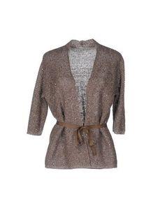 BRUNO MANETTI Women's Cardigan Light grey 10 US