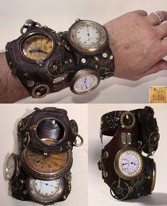 men, wristwatch, steampunk
