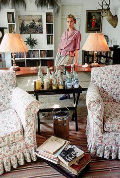 Margaux Hemingway dans la maison de son grand-père Ernest Hemingway à La Havane en 1978