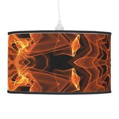 #Flame #Sunflower #Mandala, #Abstract #Orange #Flower #Pendant #Lamp