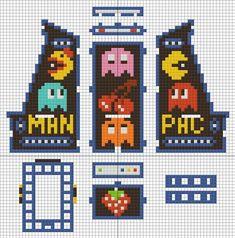 PAC MAN arcade game phone holder - template