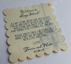 Hotel Welcome Bag Tags // Printed // Custom Die by PrimroseAndPark