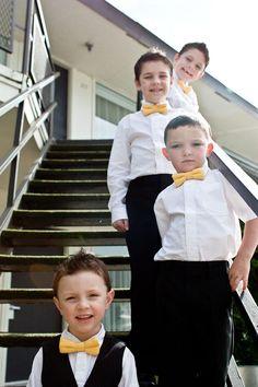 would love to see my little men wearing bow ties!