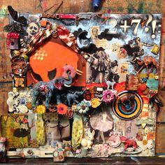 Assemblage art piece - Original by: #Dimitra Milan