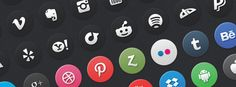 Today's freebie includes 24 circle social media icons from the full 72 circle media icon set on our Creative Market store.