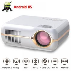 home theater projectors hd led projetor wifi android lcd projector full hd Pico Projector, Portable Projector, Door Lock System, Gadgets Online, Home Theater Projectors, Hd Led, Consumer Electronics, Wifi, Usb