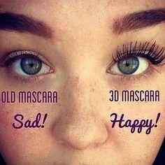Get happy lashes with younique fibre lash mascara x 3d Mascara, 3d Fiber Lashes, 3d Fiber Lash Mascara, Best Mascara, Thick Lashes, False Lashes, Natural Lashes, Happy Eyes, Younique Presenter