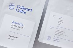Brand identity, print and packaging for New York coffee subscription service Collected Coffee by Fivethousand Fingers