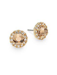Faceted Pav�-Detail Stud Earrings