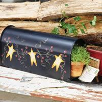 "Stars Pip Berry Roadside Mailbox by MyAdelinesPlace on Etsy, $39.99  Featured In ""Create & Decorate"" Magazine"