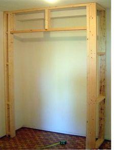 Built In Closet Walls | Diy Built In Closet Cupboard. Building ...