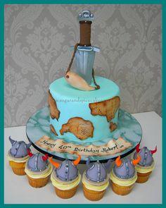 Viking themed Cake & cupcakes  http://www.sugarandspicecakes.co.nz/