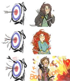 C'mon, Hawkeye would at least hit the bullseye...