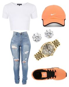 """work today outfit"" by brejeasmith on Polyvore featuring Topshop, adidas Originals, NIKE, Kenneth Jay Lane and Rolex"