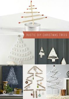 Rustic DIY Christmas Trees - Never to early to start looking for Christmas DIY's!