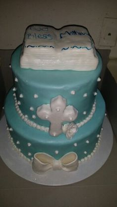 Custom Baptism Cake,  all homemade and made from scratch!