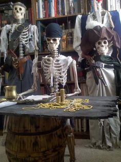 Moses changes the display to show the halloween. Halloween is celebrated with all over the world Pirate Halloween Party, Pirate Birthday, Halloween Skeletons, Halloween 2017, Halloween Themes, Halloween Halloween, Halloween Costumes, Pirate Party Decorations, Pirate Decor