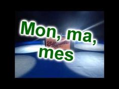 "Learn possessive adjectives in French with the song ""Mon Ma Mes"" by Etienne High School French, French Class, French Lessons, French Teacher, Teaching French, Les Adjectifs Possessifs, Teacher Portfolio, French Songs, Core French"