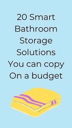 Looking for cheap and easy ways to organize your bathroom? check out these bathroom storage tips and ideas for smart storage solutions for your bathroom. #hometalk Diy Bathroom Remodel, Diy Bathroom Decor, Bathroom Ideas, Small Bathroom, Bathrooms, Smart Storage, Storage Ideas, Organization Ideas, Bathroom Organization