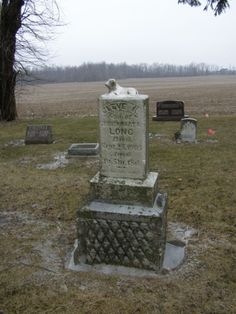 Lamb on gravestone Saint John's Cemetery Ada, Ohio
