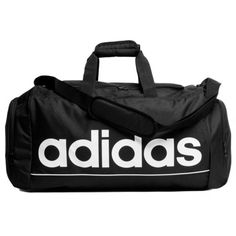 adidas Essentials Linear Medium Team Holdall ($31) ❤ liked on Polyvore featuring bags, luggage, accessories, adidas, fillers and malas