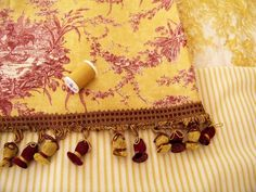 Red and yellow French Country Bedroom | already had the toile part covered (no pun intended). My quilt is a ...