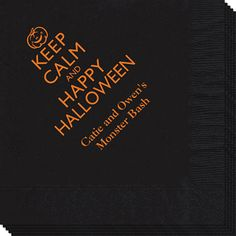 Keep Calm and Happy Halloween Napkins