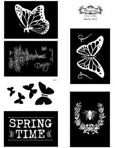 Photocentric: March Download Negatives - Springtime!