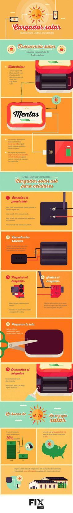 Cargador solar para tu celular #DIY