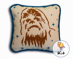"Needlepoint diy kit – Chewbacca Star Wars 10"" x 10"" by HermitCrabStitchery on Etsy https://www.etsy.com/listing/211562979/needlepoint-diy-kit-chewbacca-star-wars"