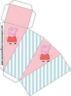 Peppa Pig: cajas para imprimir gratis. 17 modelos diferentes.