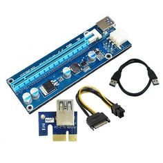 4.92$  Watch more here - New PCI-E Express 1x to 16x Extender Riser Card Adapter USB3.0 Extender Cable with Sata to 4Pin Power Supply Cable EM88   #aliexpresschina