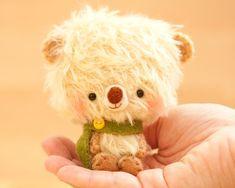 Oso de peluche peluche juguete en amarillo - hecho a la medida - Timu-