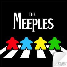 The Meeples on Abbey Road Poster