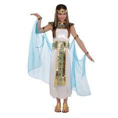 Girls Cleopatra Ages 3 4 5 Years Egyptian Queen Fancy Dress Kids Costume Outfit