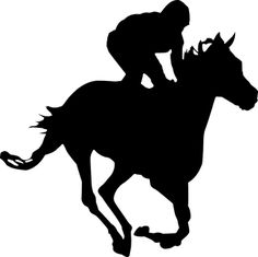 Silhouette Equestrian Cavalry - Free vector graphic on Pixabay Horse Clip Art, Courses Hippiques, Race Night, Horse Clipping, Derby Horse, Horse Logo, Horse Silhouette, Racehorse, Make A Donation