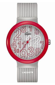 Lacoste 'Goa' Silicone Strap Watch