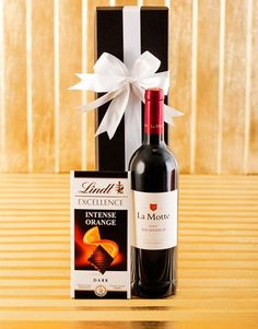 Buy La Motte Wine and Lindt Chocolate Online - NetGifts Wine Hampers, Same Day Delivery Service, Chocolate Hampers, Lindt Chocolate, Alcohol Gifts, Fathers Day Gifts, Red Wine, Orange, Bottle